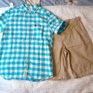 NWOT 12 BOYS ABERCROMBIE Shirt & Shorts